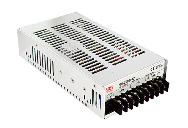 Przetwornica DC-DC Mean Well SD-200C-12 200W 16.7A | 12V ► 36~72 VDC