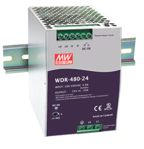 ZASILACZ DIN MEAN WELL WDR-480-24 24V/20A 480W