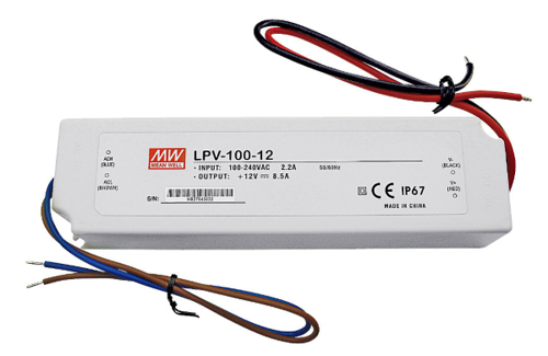 Zasilacz LED Mean Well LPV-100-12 | 12V 8.5A 100W IP67