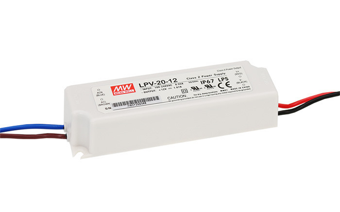 Zasilacz LED Mean Well LPV-20-5 | 5V 3A 15W IP67